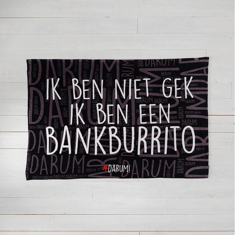 #DARUM! - Plaid - Bankburrito #DARUM! Tekst 130 x 170 cm - Ga naar Dekbed-Discounter.nl & Profiteer
