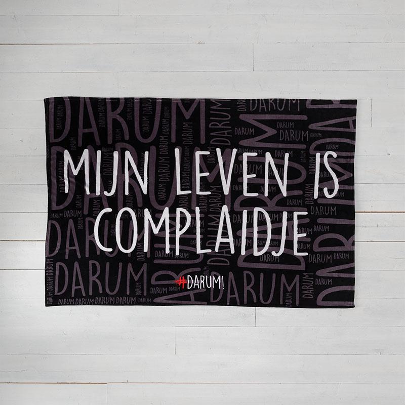 #DARUM! - Plaid - Complaidje #DARUM! Tekst 130 x 170 cm - Ga naar Dekbed-Discounter.nl & Profiteer N