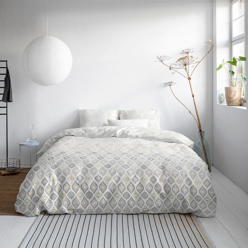 DreamHouse Bedding Ella – Wit 1-persoons (140 x 200/220 cm + 1 kussensloop) Dekbedovertrek