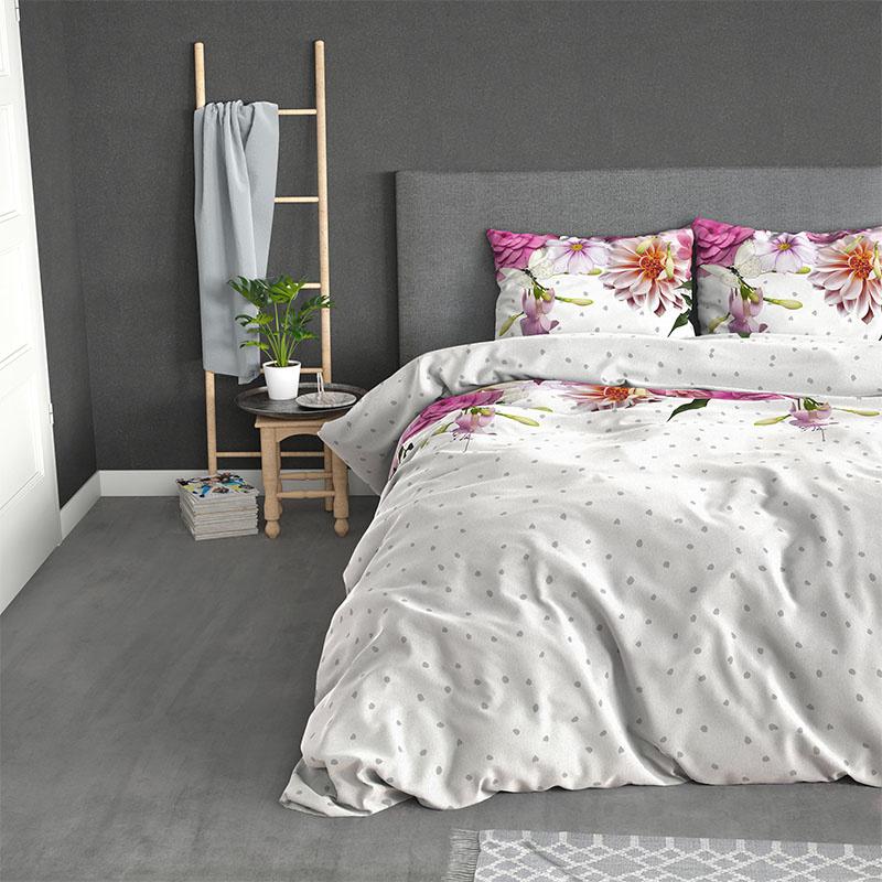 Sleeptime Elegance Love Garden – Flanel 2-persoons (200 x 200/220 cm + 2 kussenslopen) Dekbedovertrek
