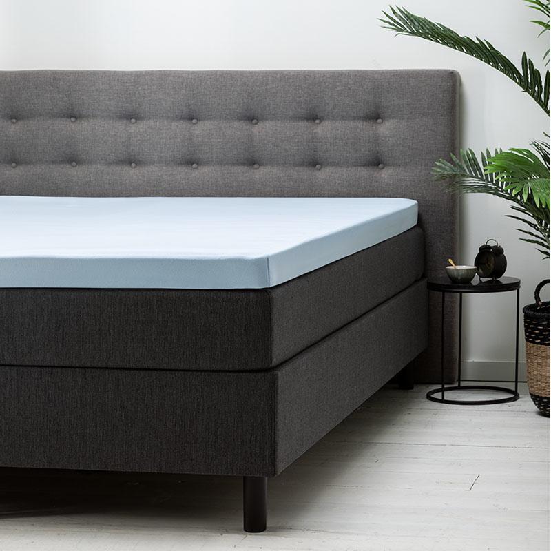 Fresh & Co Topper Hoeslaken Katoen - Blauw 200 x 210/220 ccm