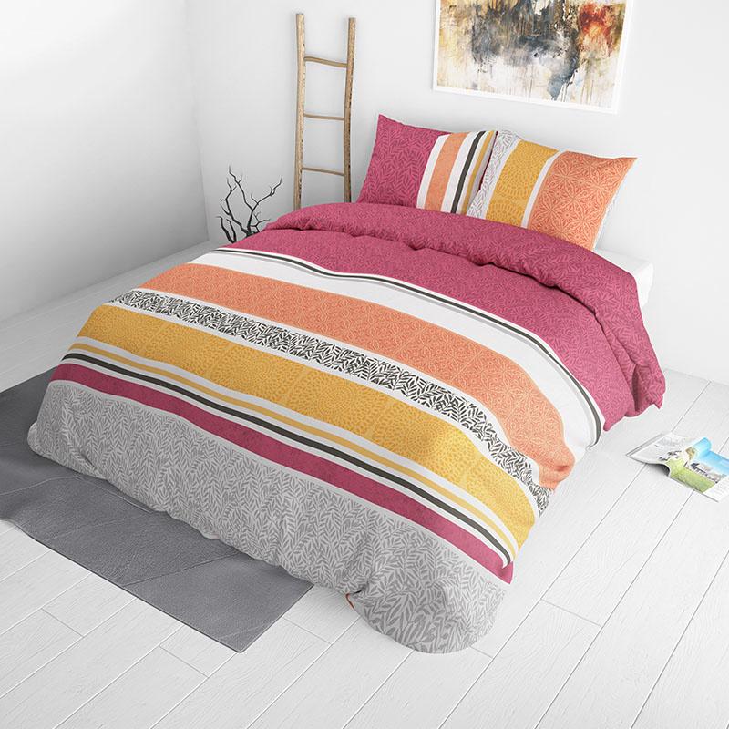 Sleeptime Elegance Emilio - Oranje 2-persoons (200 x 220 cm + 2 kussenslopen) Dekbedovertrek