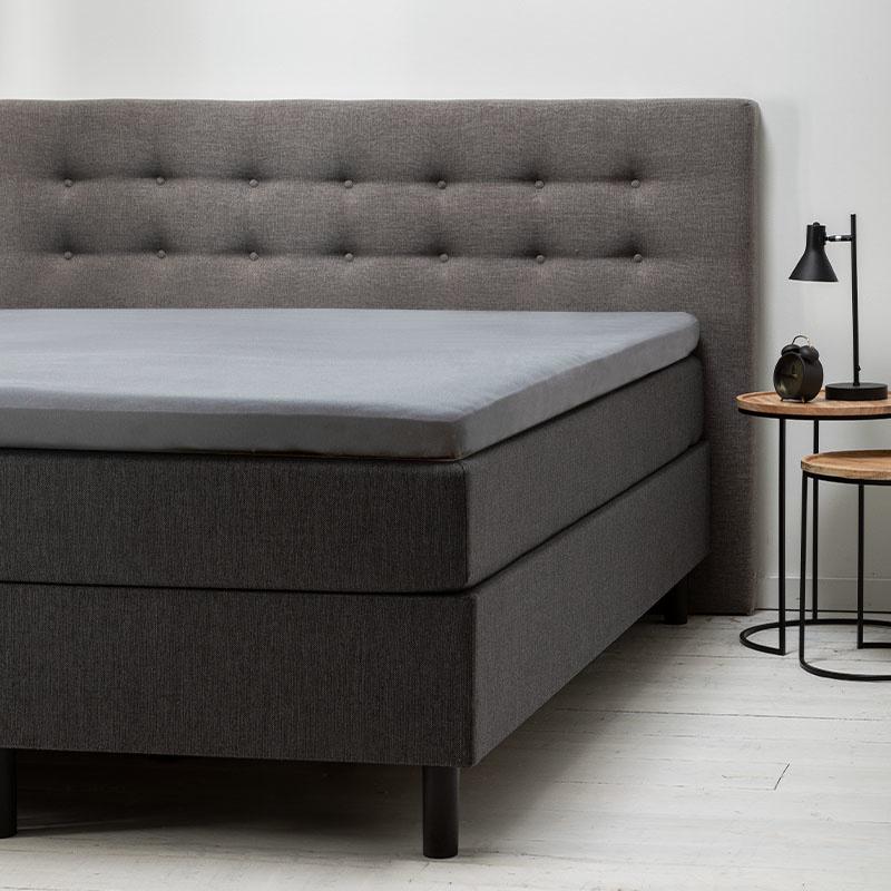 Dekbed Discounter 2-Pack Comfort Topper Hoeslaken Jersey- Lichtgrijs 100/120 x 200/210/220 cm