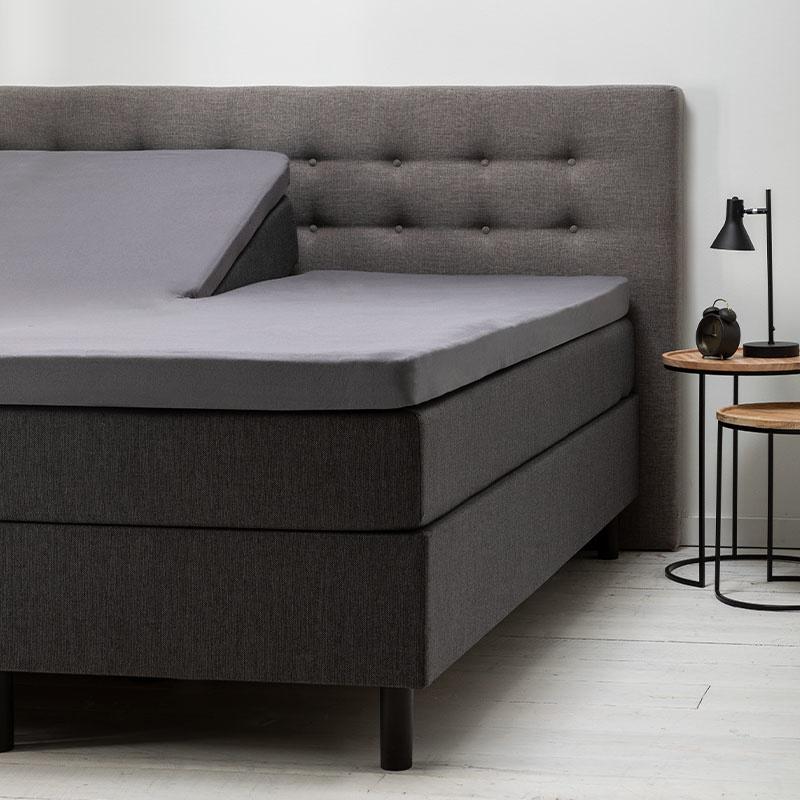 Fresh & Co 2- Pack Comfort Split- Topper Hoeslaken Jersey- Antraciet 200 x 200/210 cm