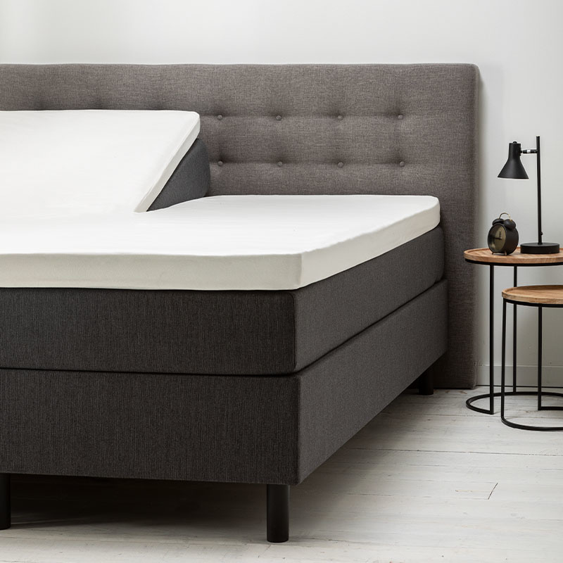 Fresh & Co 2- Pack Comfort Split- Topper Hoeslaken Jersey-Wit 180 x 200/210 cm