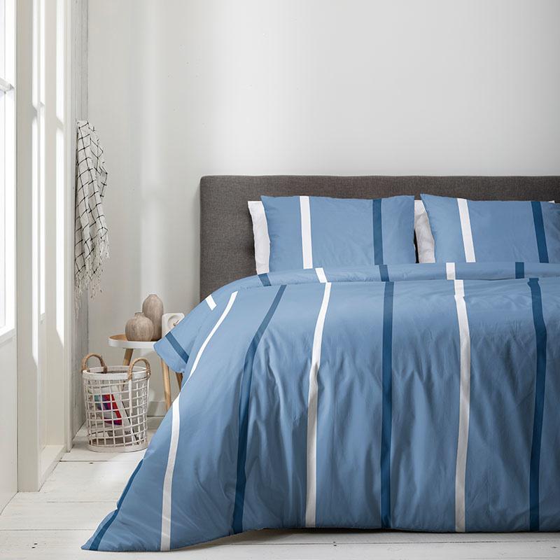Luna Bedding Luna Blue Stripes 2-persoons (200 x 220 cm + 2 kussenslopen) Dekbedovertrek