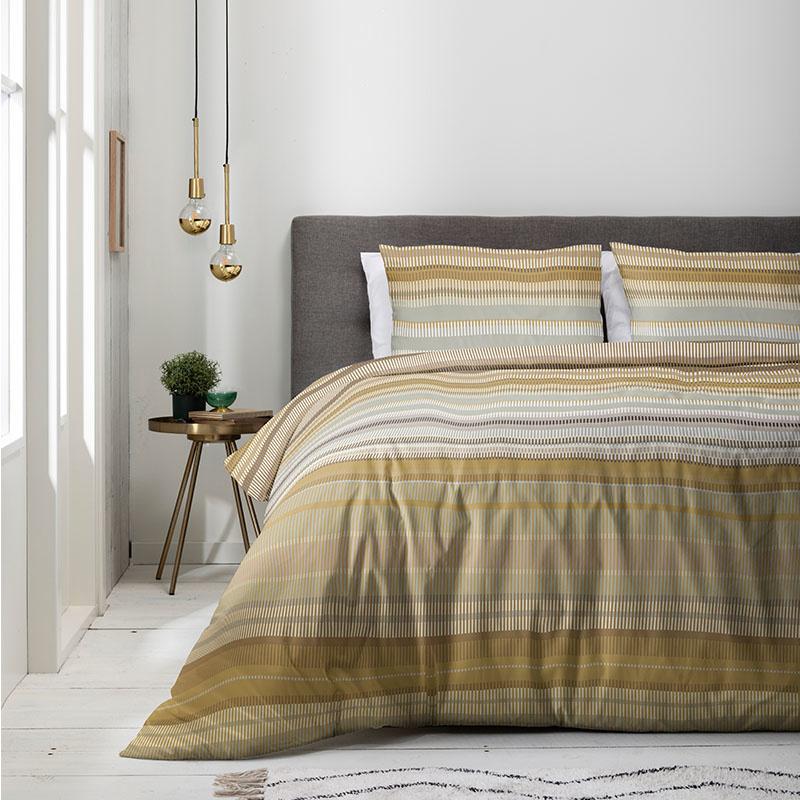 Luna Bedding Luna Gold Wave 1-persoons (140 x 220 cm + 1 kussensloop) Dekbedovertrek