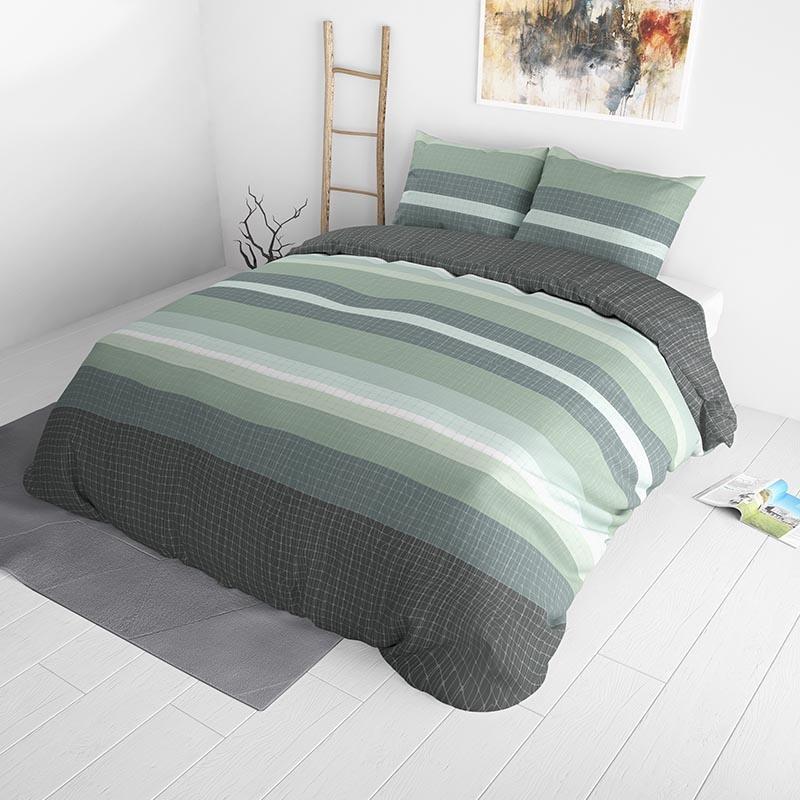 Sleeptime Elegance Justice Green 240 x 220 Dekbedovertrek