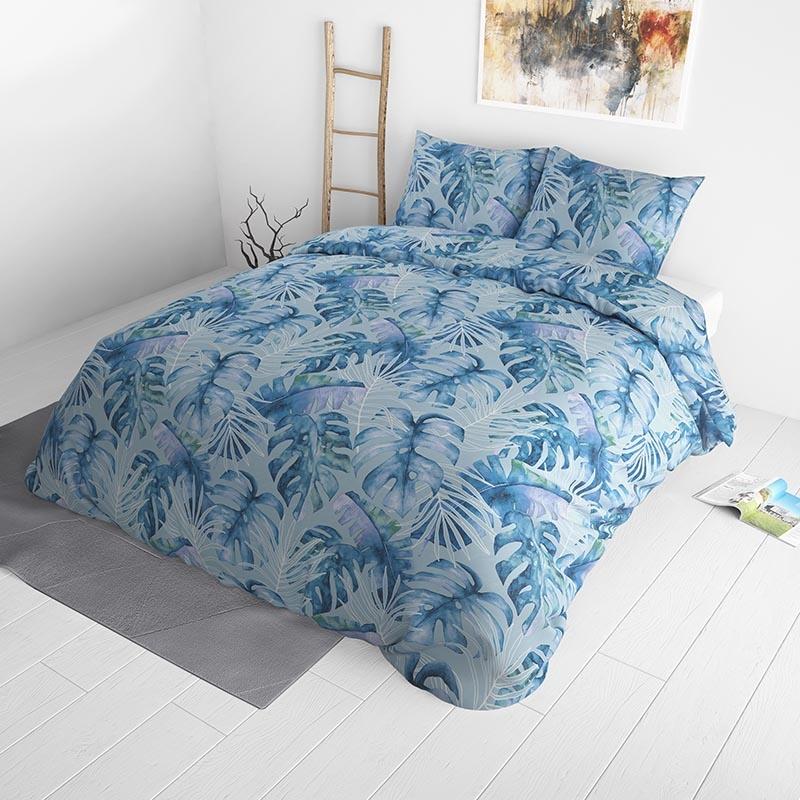 Sleeptime Elegance Ocean Botanical Blue 200 x 220 Dekbedovertrek