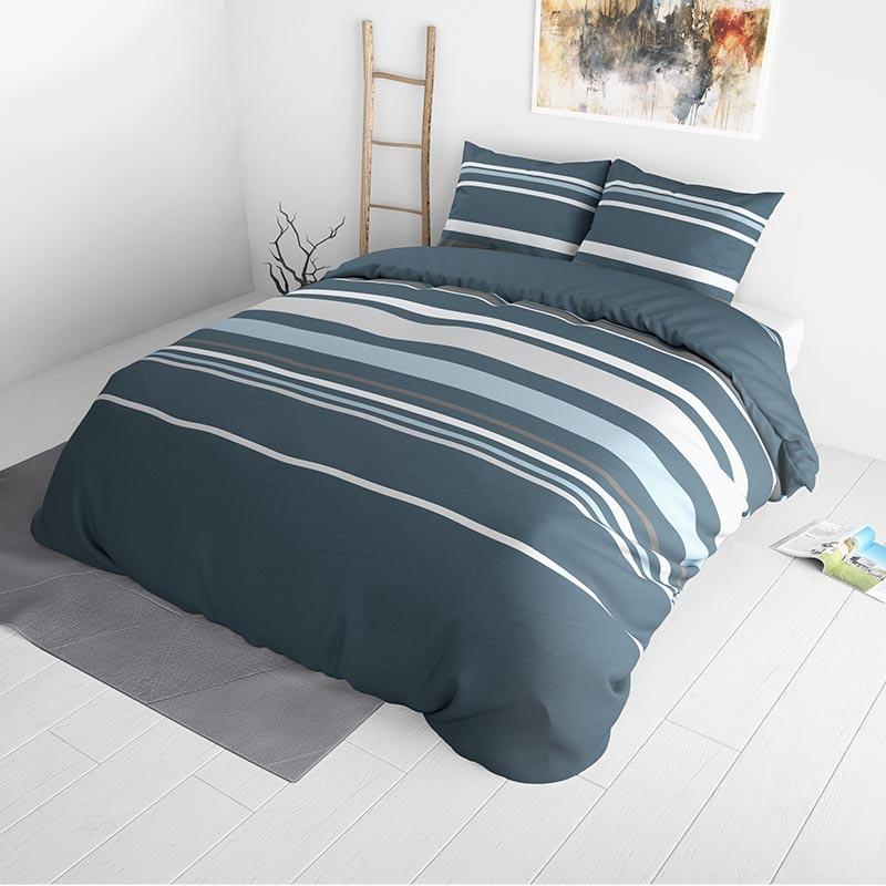 Sleeptime Elegance Landry Blue 240 x 220 Dekbedovertrek