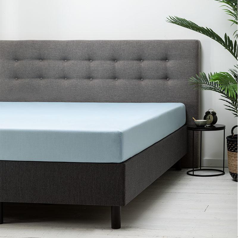 Fresh & Co 2-PACK: Hoeslaken Katoen - Lichtblauw 90 x 210/220 cm