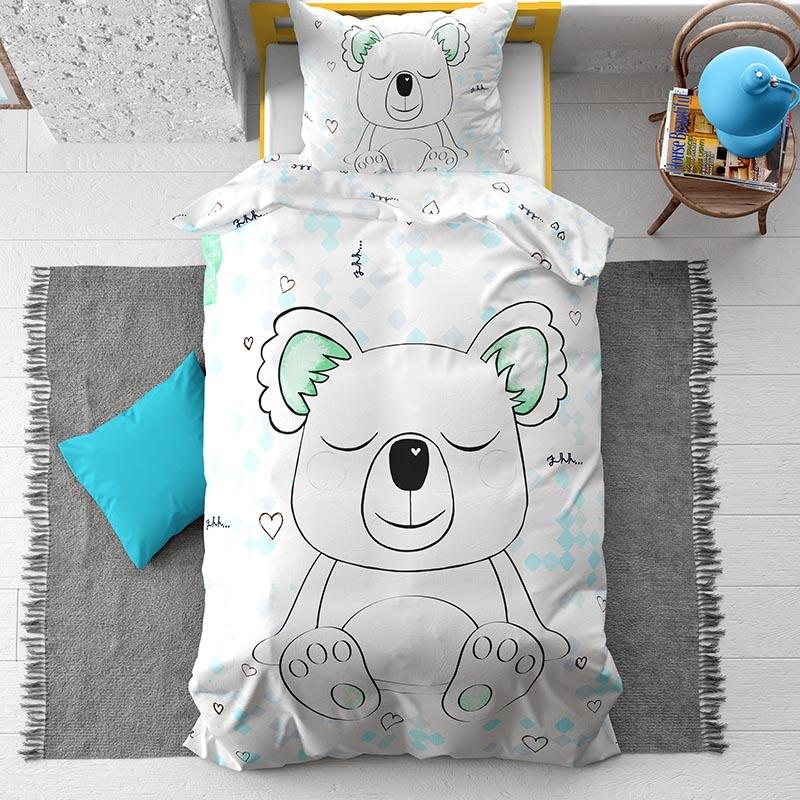 DreamHouse Bedding Sleepy Koala Kids 1-persoons (140 x 200/220 cm + 1 kussensloop) Dekbedovertrek