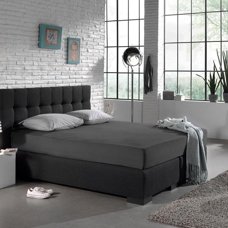 DreamHouse Bedding Hoeslaken HC Jersey - Antraciet 140 x 200 cm