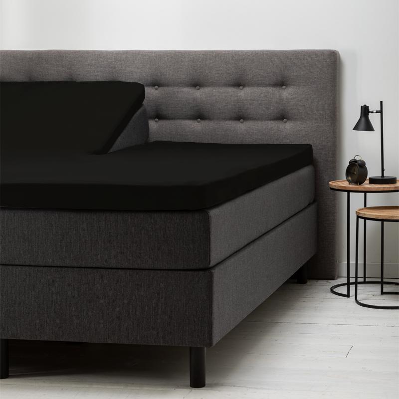 Hoeslaken Katoen - 160x200 cm - Zwart - Fresh & Co - Ga naar Dekbed-Discounter.nl & Profiteer Nu