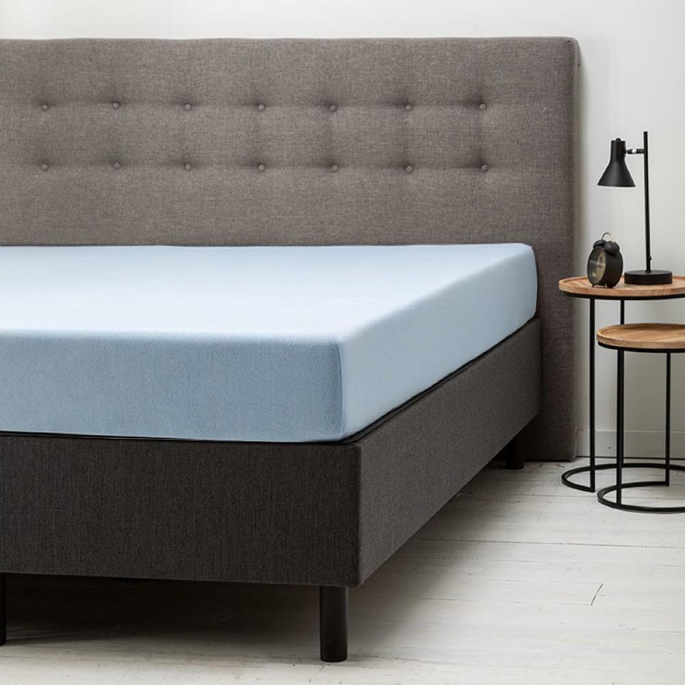 Hoeslaken Jersey - 80/90x200/210/220 cm - Blauw - Dekbed Discounter