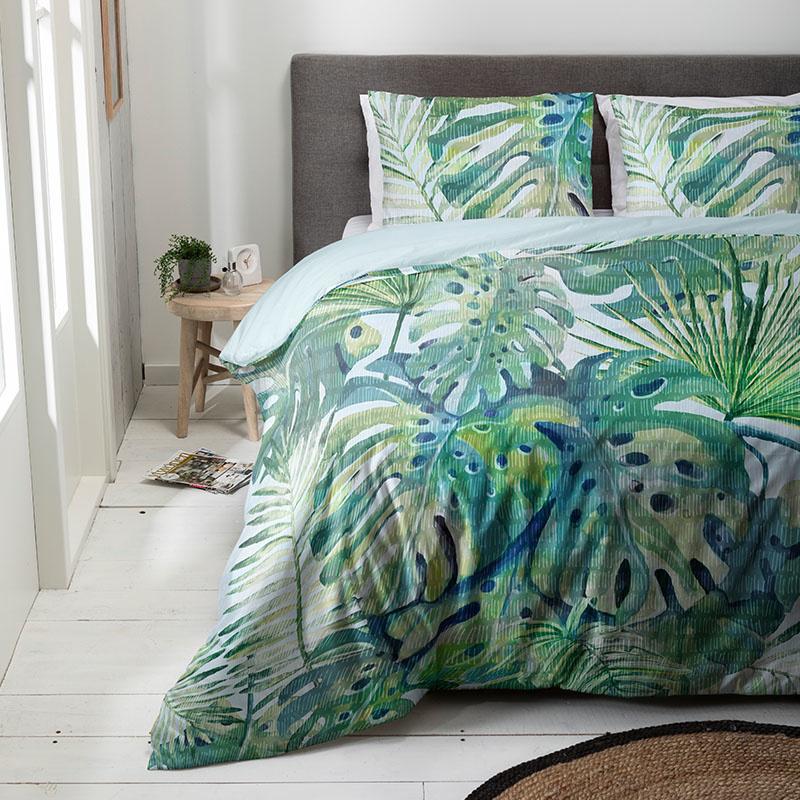 Luna Bedding Cooling Palms Lits-jumeaux (240 x 220 cm + 2 kussenslopen) Dekbedovertrek