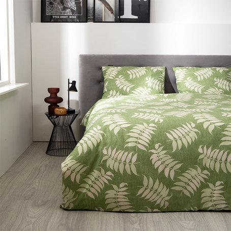 Fresh & Co Green Plants Lits-jumeaux (240 x 220 cm + 2 kussenslopen) Dekbedovertrek
