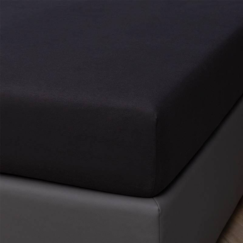 Presence Egyptisch Katoenen Jersey Hoeslaken 140/160 x 200/210/220 cm, Kleur: Antraciet