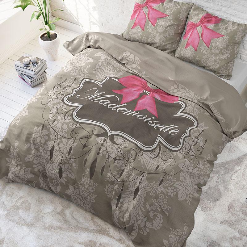 DreamHouse Bedding Mademoiselle - Antraciet 1-persoons (140 x 220 cm + 1 kussensloop)