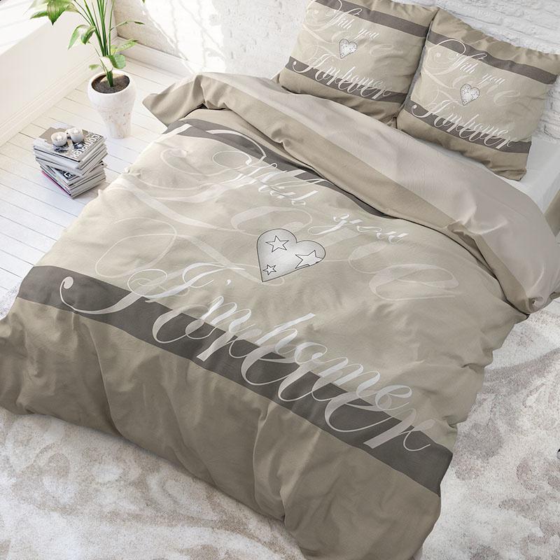DreamHouse Bedding With You - Antraciet 2-persoons (200 x 220 cm + 2 kussenslopen) Dekbedovertrek