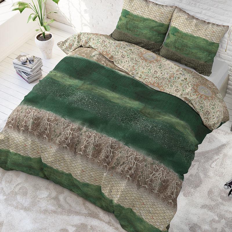 Sleeptime Elegance Jermaine - Groen Lits-jumeaux (240 x 200/220 cm + 2 kussenslopen)