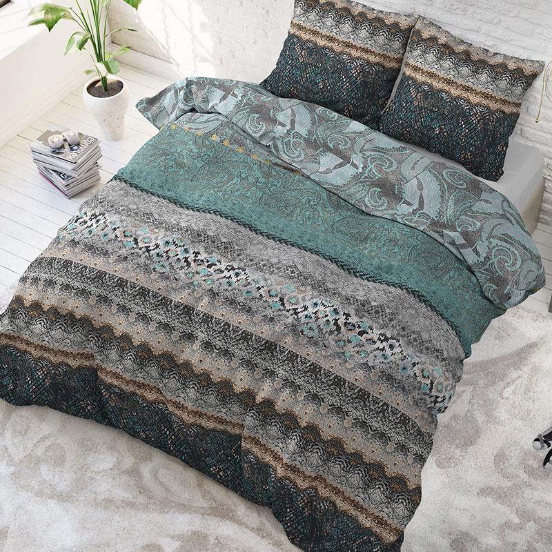 Sleeptime Elegance Terrence - Blauw 2-persoons (200 x 200/220 cm + 2 kussenslopen)