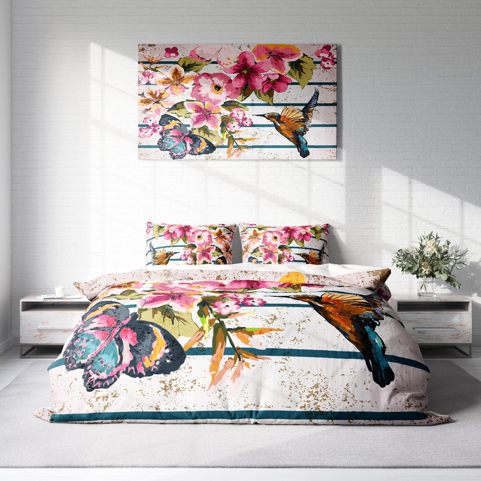 DLC Flower Bird Lits-jumeaux (240 x 220 cm + 2 kussenslopen) Dekbedovertrek