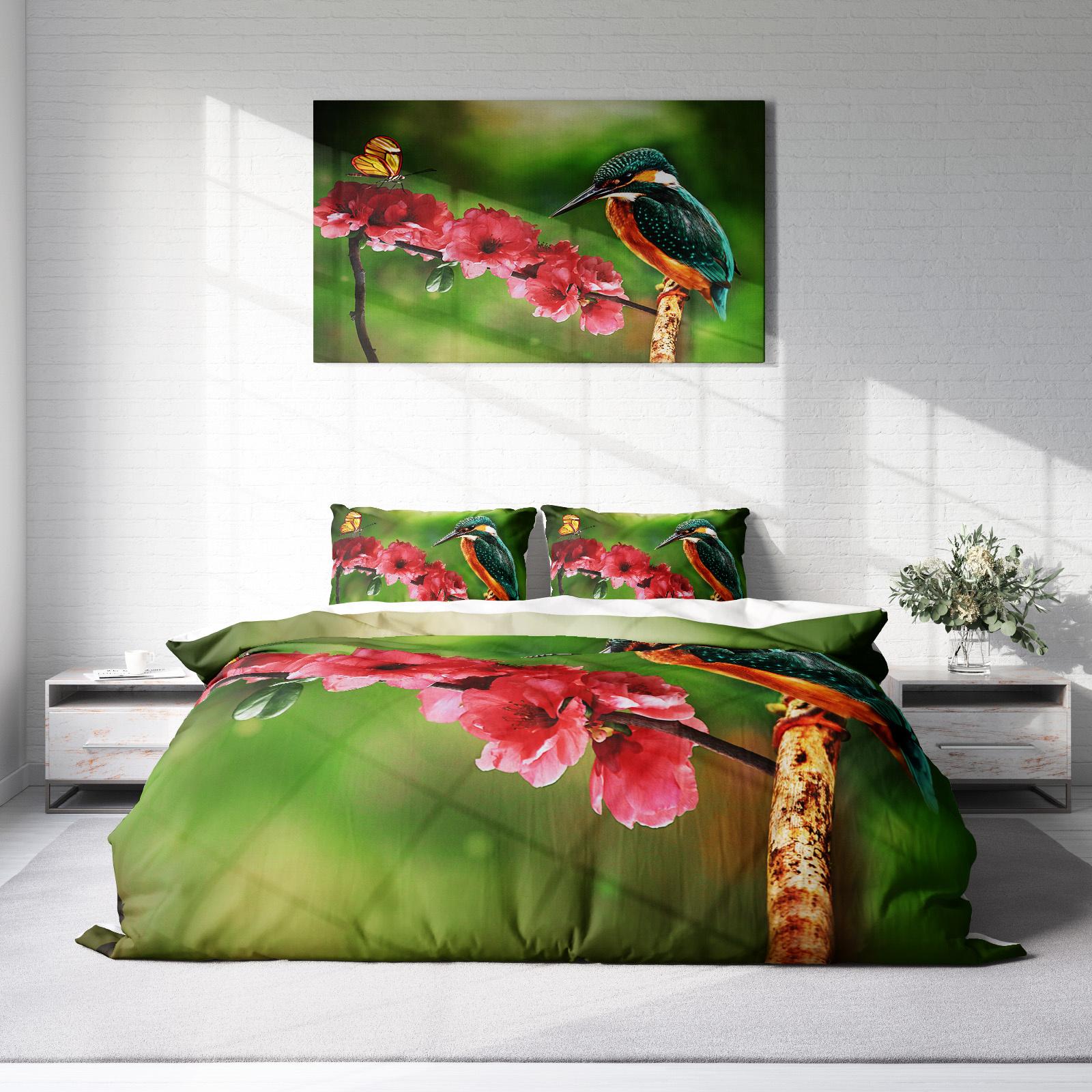 DLC Nature Flower Lits-jumeaux (240 x 220 cm + 2 kussenslopen) Dekbedovertrek