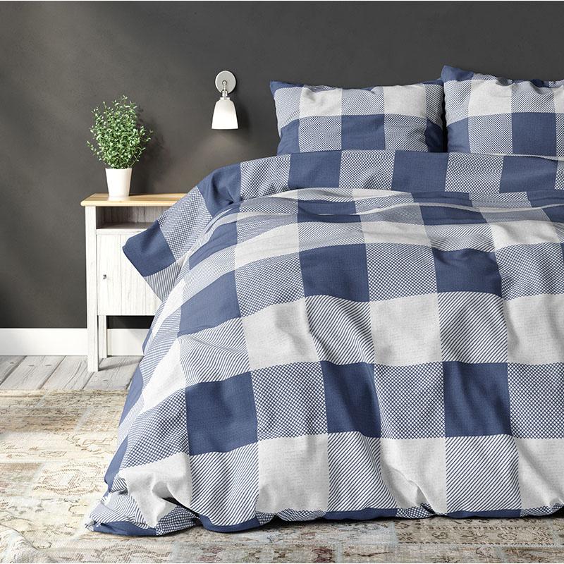 Sleeptime Elegance Check on it Blue Lits-jumeaux (240 x 200/220 cm + 2 kussenslopen)