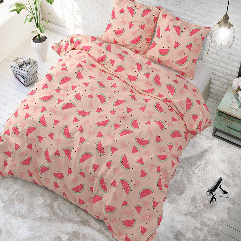 Sleeptime Elegance Sweet Watermelon Pink Lits-jumeaux (240 x 200/220 cm + 2 kussenslopen)