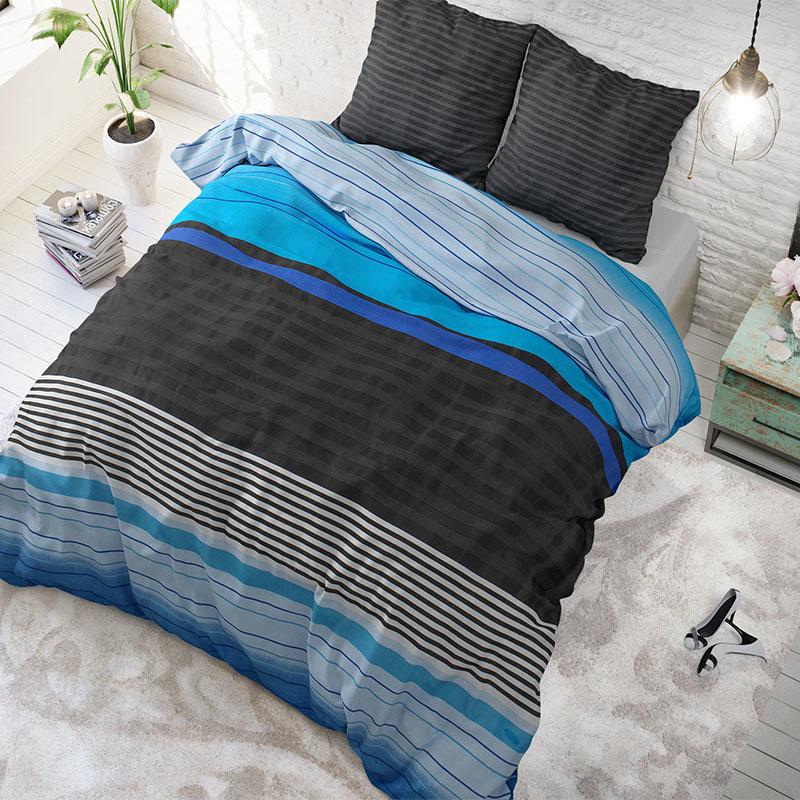 Sleeptime Elegance Cura Blue 2-persoons (200 x 200/220 cm + 2 kussenslopen)