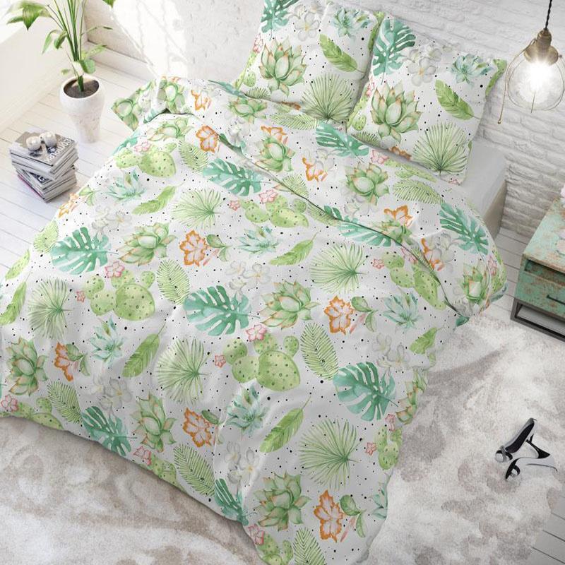 Sleeptime Elegance Light Garden Wit Lits-jumeaux (240 x 200/220 cm + 2 kussenslopen)