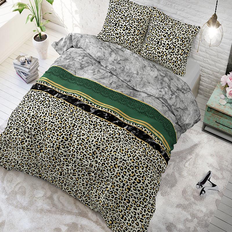 Sleeptime Elegance Trendy Marble Green 2-persoons (200 x 200/220 cm + 2 kussenslopen)