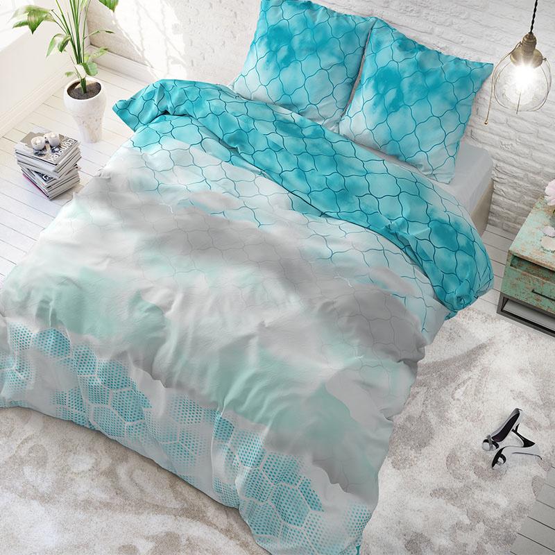 Sleeptime Elegance Cloud Away Turquoise 2-persoons (200 x 200/220 cm + 2 kussenslopen)