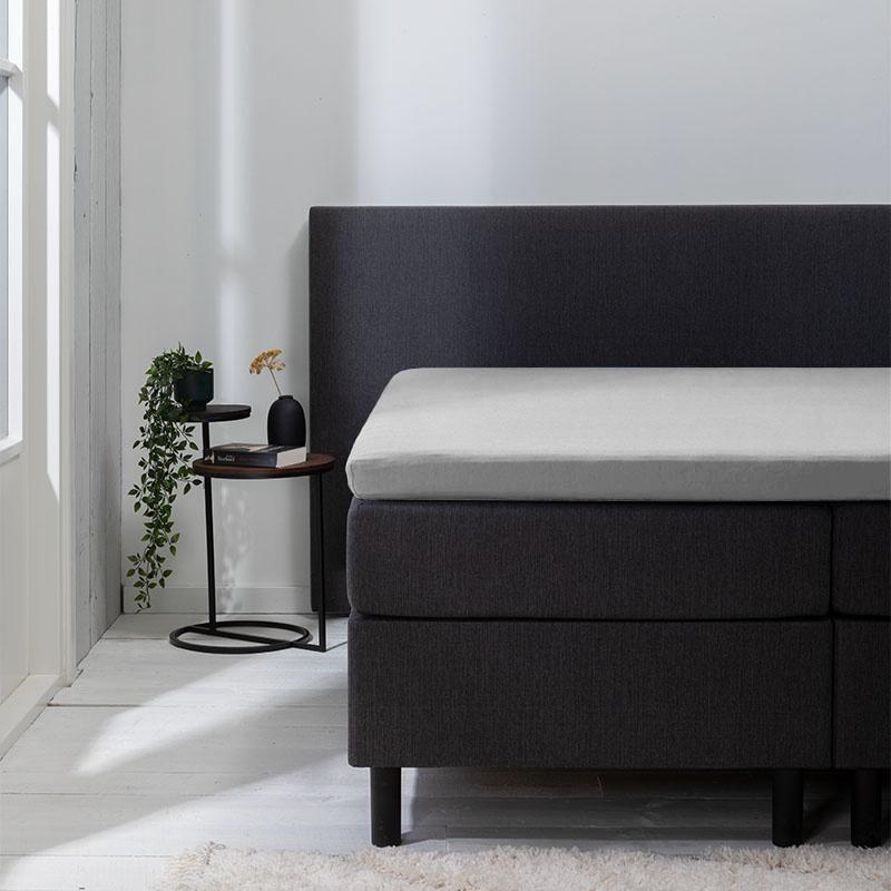 Luna Bedding 2-PACK: Luna Topper Hoeslaken Jersey - Lichtgrijs 80/90 x 200/210/220 cm
