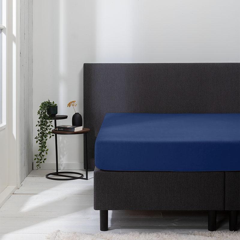 Luna Bedding 2-PACK: Luna Hoeslaken Jersey Kleur: Navy, 180 x 200 cm