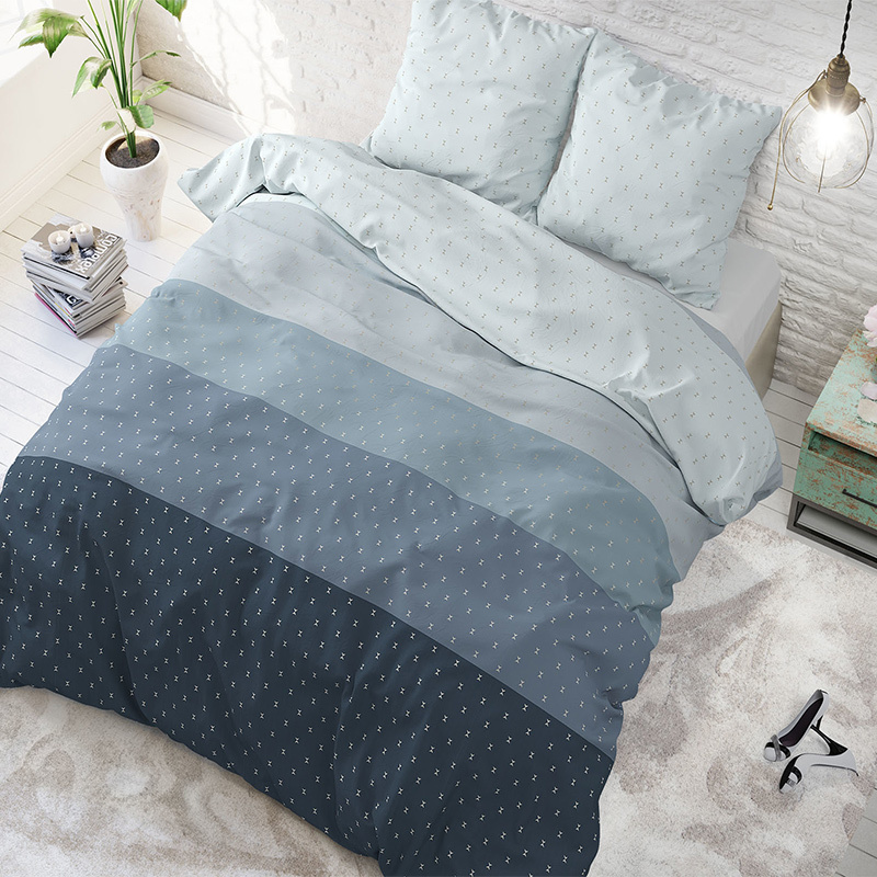Sleeptime Elegance Vente Blue Lits-jumeaux (240 x 200/220 cm + 2 kussenslopen) Dekbedovertrek