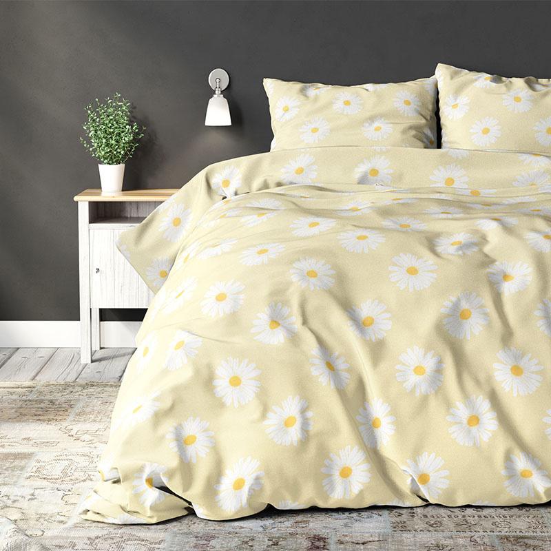 Sleeptime Elegance Madeliefje - Yellow Lits-jumeaux (240 x 220 cm + 2 kussenslopen) Dekbedovertrek