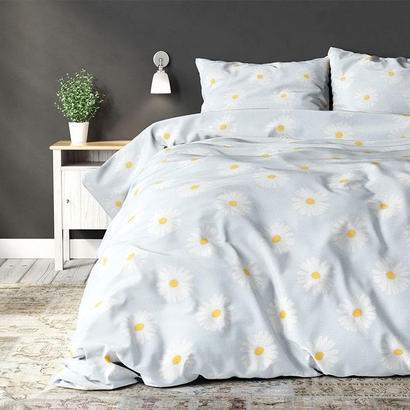 Sleeptime Elegance Madeliefje - Blue Lits-jumeaux (240 x 220 cm + 2 kussenslopen) Dekbedovertrek