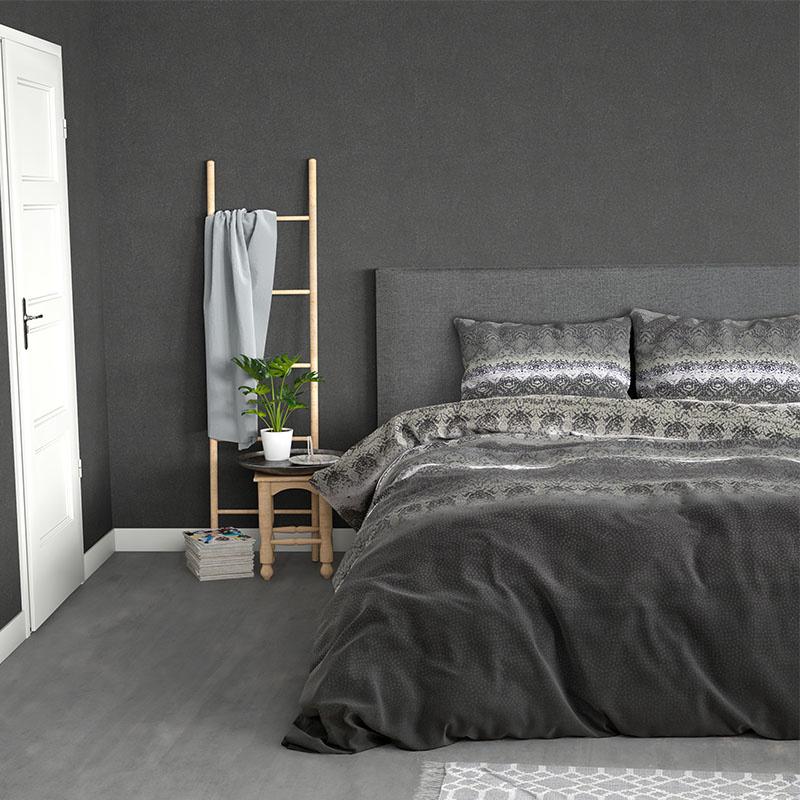 Sleeptime Elegance Jacky - Zwart 2-persoons (200 x 220 cm + 2 kussenslopen) Dekbedovertrek