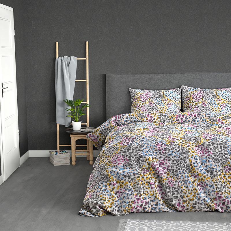 Sleeptime Elegance Flower Eye - Multi Lits-jumeaux (240 x 220 cm + 2 kussenslopen) Dekbedovertrek