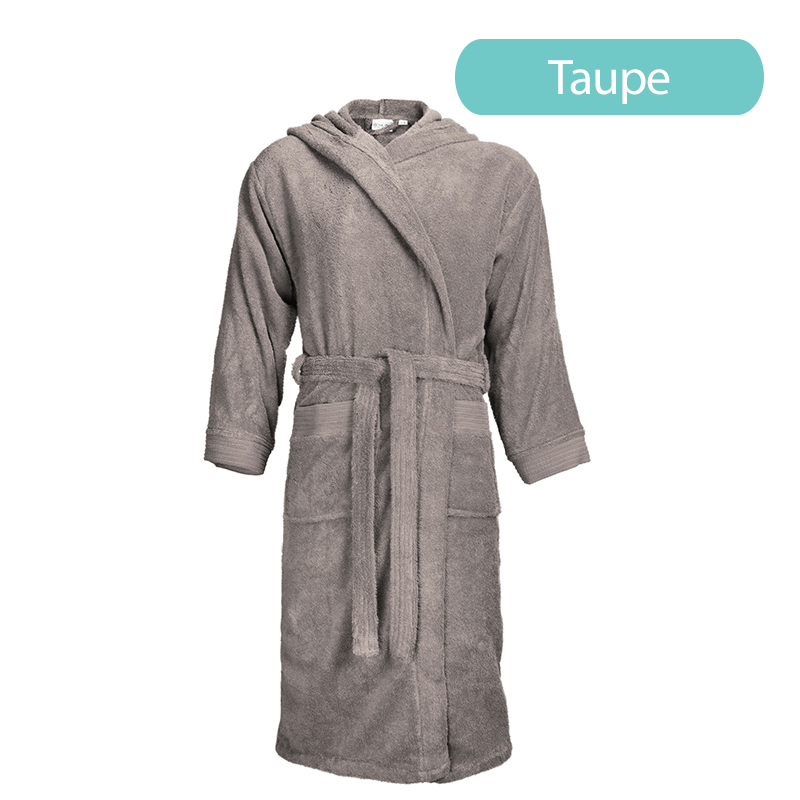 Standaard Badjas met Capuchon The One Towelling Kleur: Taupe , S/M - Ga naar Dekbed-Discounter.nl &
