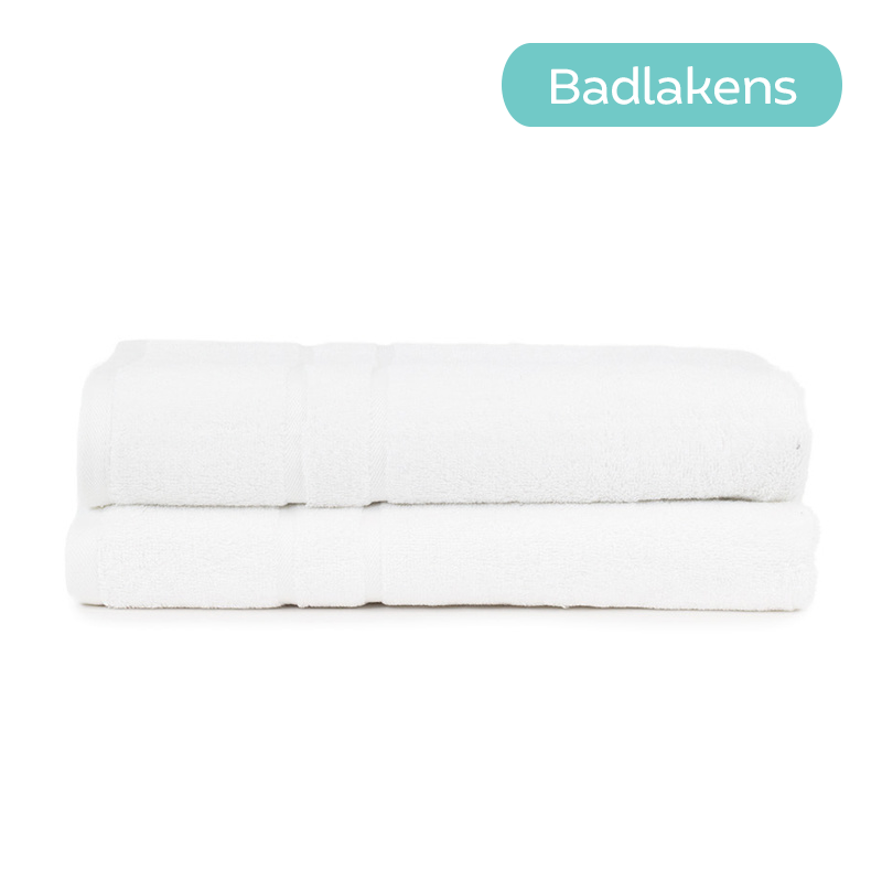 The One Towelling 2-PACK - Badtextiel Hotel - Wit Type: 2-Pack Badlakens