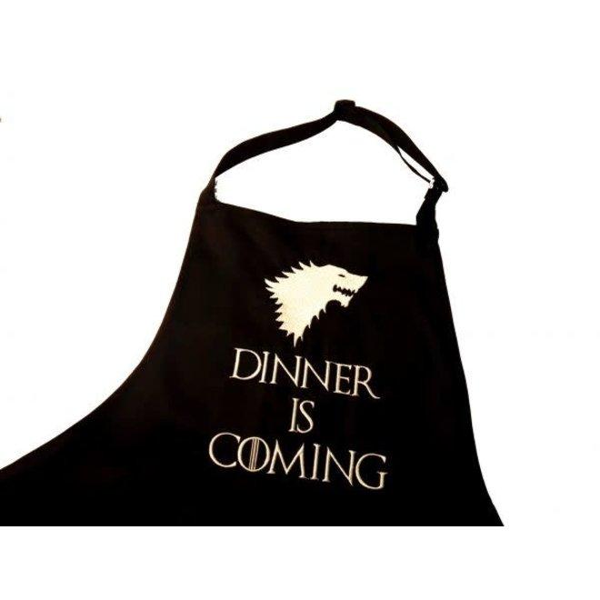 Keukenschort Dinner is coming