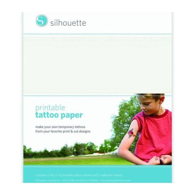 Silhouette Tattoo papier -transparant/printbaar