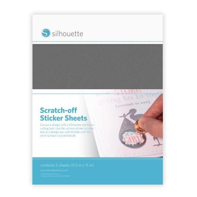 Silhouette scratch-off zilveren stickers