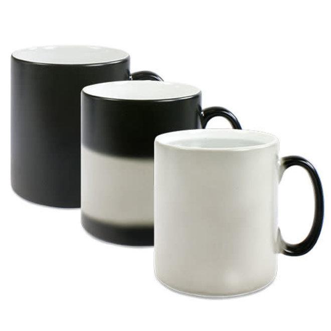 Sublimatie 'magic mug' zwart