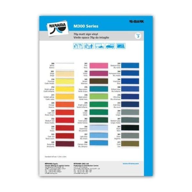 Ritrama M300 (mat) kleurenkaart