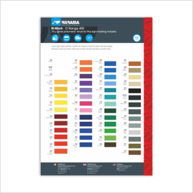Ritrama O400 kleurenkaart
