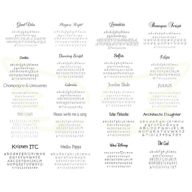 Aap met voetjes om te personaliseren met naam en bv. geboortedatum